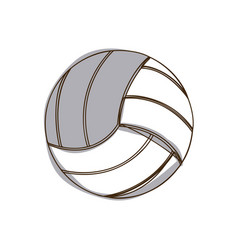 Monochrome silhouette volleyball ball element vector