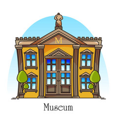 National museum building with statue on top vector
