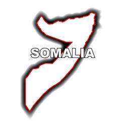 Outline map of somalia vector