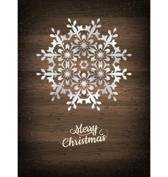 Paper christmas snowflake EPS 10 vector