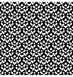 Pattern with damask motifs in black and white vector