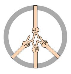 Peace symbol icon vector