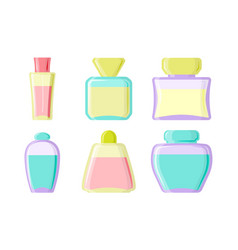 perfume glamour fashionable beautiful cosmetic vector image