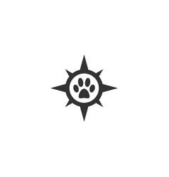 pet locator logo template vector image
