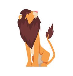 Proud powerful lion mammal jungle animal vector