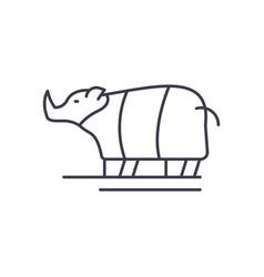 rhinoceros line icon concept rhinoceros vector image