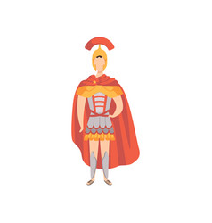 Roman warrior soldier in traditional clothes of vector