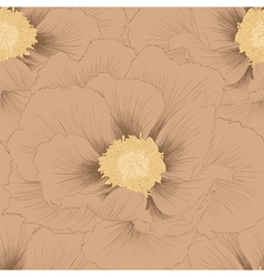 Seamless background with flowers Plant Paeonia vector