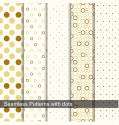 Seamless retro patterns with circles and dots vector