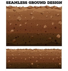 Seamless underground with different layers vector image