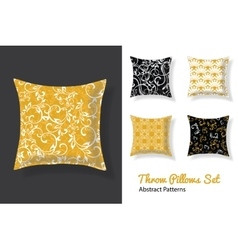 Set Of Throw Pillows In Matching Unique vector