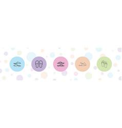 Slipper icons vector