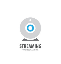 Streaming logo for business company simple vector