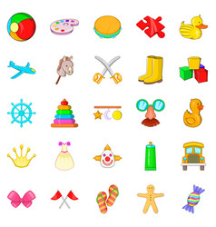 toy for children icons set cartoon style vector image