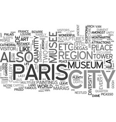 what you need to know about paris travel text vector image