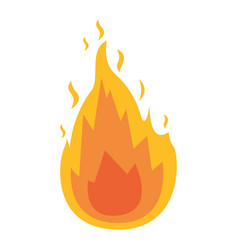 white background with flame icon vector image