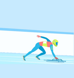 winter sport skeleton vector image