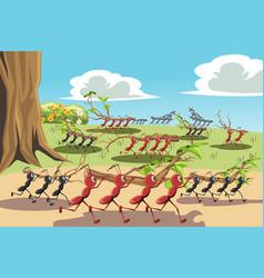 Working ants vector