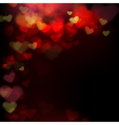 001 Blur heart on dark abstract background EPS 10 vector image vector image