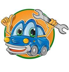 car garageembleme vector image