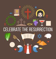 celebrate the resurrection of jesus vector image vector image