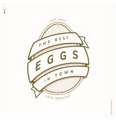 egg farm linear logo vector image