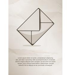 Envelope on grunge background Vintage Label Logo vector image