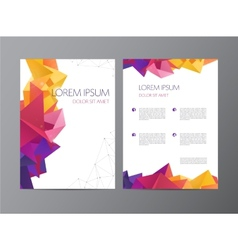 Flyer green and blue brochure abstract vector