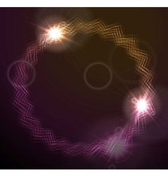 Glowing round lines design vector image vector image