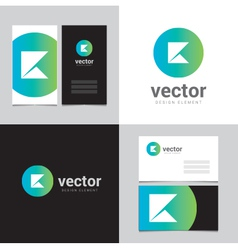 Logo design element with two business cards - 11 vector image vector image