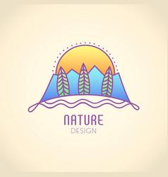 Logo mountain texture vector