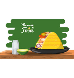 mexican traditional food taco vector image