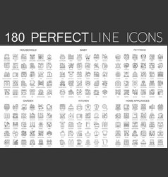 180 outline mini concept icons symbols of vector image