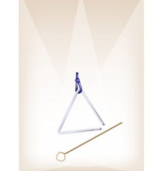 A Musical Triangle on Brown Stage Background vector image vector image