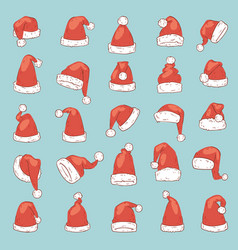 christmas santa claus hat noel isolated vector image