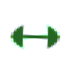 dumbbell weights sign colorful icon vector image vector image