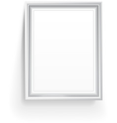 Empty picture frame isolated on white vector image