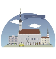 Tallinn vector image vector image