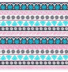 Tribal vintage ethnic pattern seamless vector image