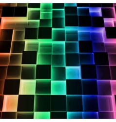 Disco Abstract Square Box vector image vector image