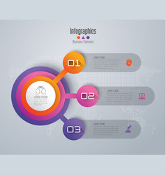 infographics design with 3 options vector image vector image