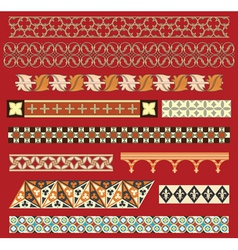 medieval border ornaments vector image vector image
