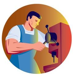 trade factory worker vector image vector image