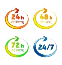 Around the clock delivery icons vector image vector image