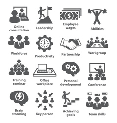 Business management icons Pack 11 vector image vector image
