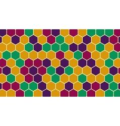 Retro hexagonal geometric background vector image vector image