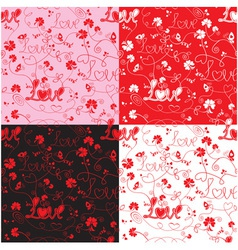 Seamless pattern for Valentines Day with word LOVE vector image vector image