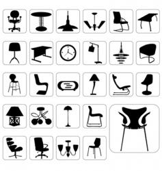 set of modern furniture vector image vector image