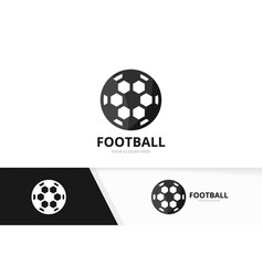 soccer and sport logo combination ball vector image