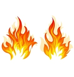 Two fire vector image vector image